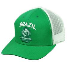 3a951111514 Brazil Brasil Copa America Centenario 2016 Mesh Futbol Soccer Hat Cap Green  Whit