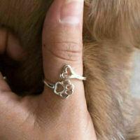 Hohle Tatzen-Druck-Liebes-Herz-Ring-geöffneter justierbarer Ring