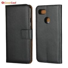 Genuine Leather Wallet Flip Stand Case Cover For Google Pixel 3