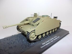1:43 1:43eme Altaya Ixo Stug III Ausf Panzerregiment Panzer Tanque Tank Char WW2