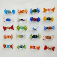 12/24pcs Vintage Murano Glass Sweets Candy Christmas Decorations Kids Ornament