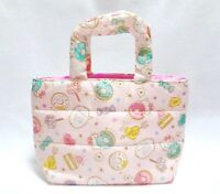 SANRIO KAWAII Hello Kitty Soft Handle Quilting Mini Tote Bag Sweets Pattern