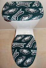 NFL PHILADELPHIA EAGLES Fleece Fabric Toilet Seat Cover Set Bathroom Accessories