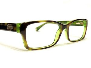 Coach HC 6040 Brooklyn 5117 Women's Tortoise & Green Rx Eyeglasses Frames 52/16