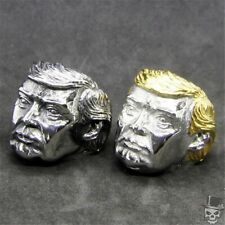 Color Ring 316L Stainless Steel 7-15 U.S. President Donald Trump Golden Silver