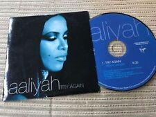 AALIYAH - TRY AGAIN CD SINGLE 1 TRACK PROMO SPAIN CARD SLEEVE ROMEO MUST DIE OST