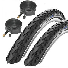 "Schwalbe Land Cruiser 26"" x 1.75 Mountain Bike Tyres with Schrader Tubes 1 Pair"