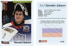 2019 SC Yaroslav Askarov 14/20 RC Rookie TOP PROSPECTS Russia