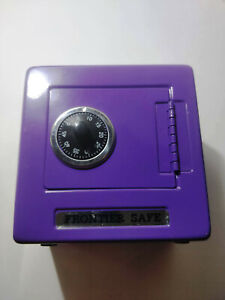 CHILD'S COIN BANK AND SAFE WITH COMBINATION LOCK AND COIN SLOT EXCELLENT COND