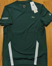 Mens Lacoste Sport Novak Performance Ultra Dry T-Shirt Olive/White 6 (XL) $70