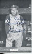 ED LOPAT N.Y. YANKEES BASEBALL PLAYER KANSAS CITY MANAGER SIGNED PHOTO AUTOGRAPH