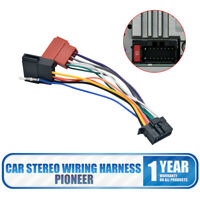 Car Stereo Radio Iso Wiring Harness Connector Adaptor Cable Loom Pioneer 16 Pin