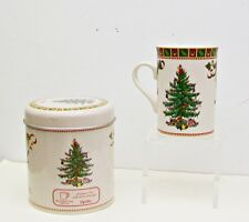 SPODE Christmas Tree Sentiment Mug + Tin Mother's Love Is the Heart of the Home