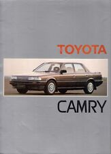 Toyota Camry 1986-87 UK Market Sales Brochure Saloon Estate 2.0 GLi TD