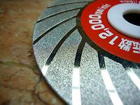 "100mm 4"" THK Diamond coated FLAT grinding grind sculpting wheel disc Grit 120"