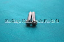 2 new PETROL fuel gas TANK BADGE SCREWS specially for BSA pear badges UK made