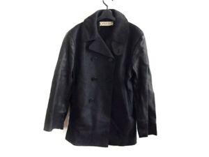Auth MARNI Black Mens Coat # 46