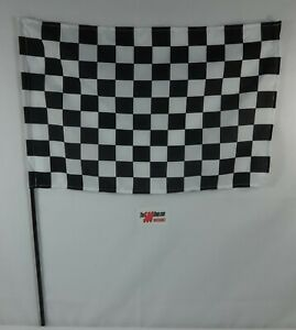 Racing Black & White Checkered Plastic Stick Flag Race Car Indy 500 Brickyard