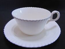 Copeland Spode - GADROON - Off White Rope Edged - Green Stamp - Cup & Saucer Set