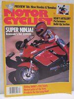 Vintage Motorcyclist Magazine December 1985 Super Ninja Kawasaki ZX1000