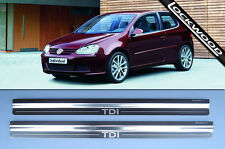 VW Golf Mk5 TDi 2 Door Kick Plates Sill Protectors