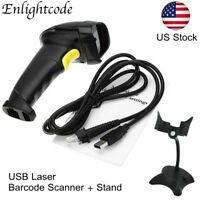 Portable Handheld USB Laser Barcode Scanner With Stand,Bar Code Reader POS XP