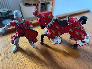 papo ritter und Pferd figure in rot