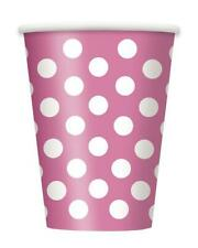 More details for 120eco-friendly heavy duty big polka dot 7oz paper party drinks lightweight cups