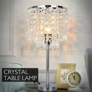 220V Crystal Table Night Light LED Desk Lamp For Home Living Room Bedroom Decor