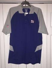 NY Giants Reebok Play Dry Polo Shirt Mens Small Blue Gray NFL EUC (A7)