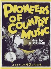 R. CRUMB PIONEERS OF COUNTRY MUSIC  FULL SET OF 40 CARDS IN BOX - LATEST EDITION