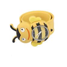 Digital Slap Watch Cute Bee Slap Watches for Kids Yellow