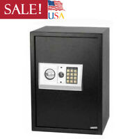 New Large Digital Electronic Keypad Lock Safe Box W/Key Security Home&Office