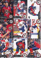 2014-15 Upper Deck Florida Panthers Complete Series 1 & 2 Team Set - 12 Cards