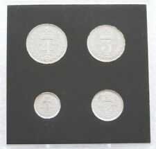2006 Royal Mint Queens 80th Birthday Maundy Silver Proof 4 Coin Set