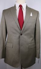 Barneys House Brand Beige Nailhead Two Button Side Vented Wool Suit 36 S 30 $898