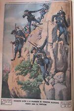 ALPINISME MONTAGNE CHASSEURS ALPINS / GRÉVE HAVRE GRAVURE LE PETIT JOURNAL 1912