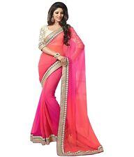 New Bollywood Saree Indian Ethnic Pakistani Designer Saree Wedding Sari