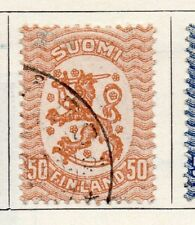 Finland 1918 Early Issue Fine Used 50p. 099062