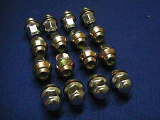 CLASSIC MINI 16 ROAD WHEEL NUTS, WITH STAINLESS STEEL CAPS ( FULL SET )