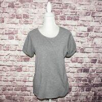 A.P.C Women's Short Sleeve Crew Tee Shirt top Heather Gray Cotton Sz Large