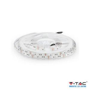 V-TAC STRISCIA LED 5 METRI MULTICOLORE RGB LED 5050 BOBINA 300 LED
