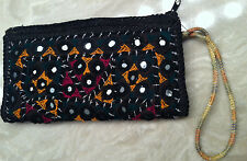 "New no tags Ethnic Indian/Pakistani mirrorwork Multicolor Pencil/makeup Case8""X4"
