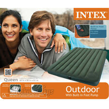 Intex 66929 - Downy Airbed Inflatable Mattress w/Built-in Foot Pump - Queen Size