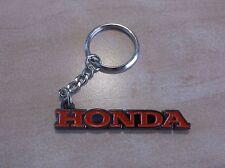 Genuine HONDA Porte-clés en métal, Honda Logo avec rouge émail, Beau Cadeau/Présent.