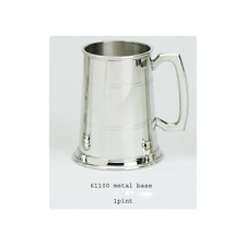 Pewter Tankard 1pt- Two Lined - Free Engraving