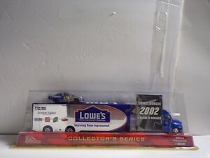 Nascar 1/64 Racing Champions Jimmie Johnson #48 Transporter w/ Car Lowes 2002