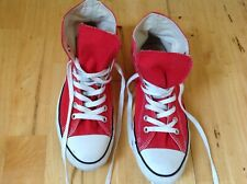 all star chuck taylor convers red high waste Uk 8 ,used but nice and clean