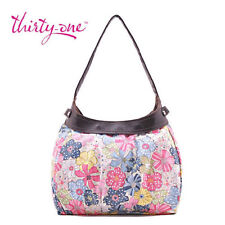 BN Thirty one City Skirt Purse Hobo Hand Tote bag Free Spirit Floral 31 gift