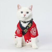 Allacki Summer Leisure Fashion Kimono Dog Costumes Cat Cotton Funny Clothes